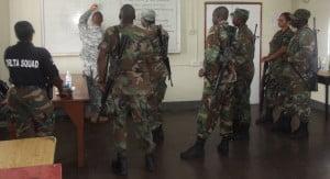 RSCNPF members go over plans with 1st Sgt Nettles