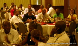 The banquet was packed with companies and organisations who use ICT on a daily basis.