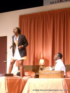 Keshia Pope's character, Camae, delivering an idea for a speech to Dr King who does not flinch... (play has strong language and uses many cigarettes)