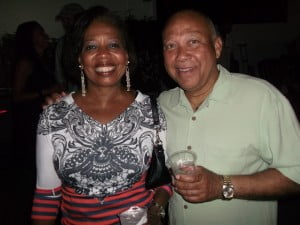A happy couple enjoy the premium entertainment at Bazodee