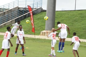 Action from the final-leg of the Digicel Kick Start Clinics programme that lasted for six weeks and spanned ten countries across the Caribbean and Central American