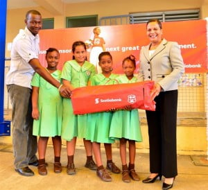 "Scotiabank's Assistant General Manager for branch banking, Jennifer Murray, an alumna of Christ Church Girls', praised the girls' schools for their ground-breaking participation, saying they were ""making history for girls all over the Caribbean."""