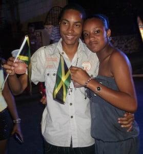 Jamaican flag representing at the 'Blocko'