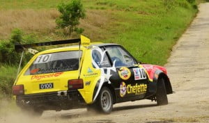 The Digicel sponsored Mayers brothers continued their two-wheel drive dominance with Roger finishing first among two-wheel drive competitors, followed closely by his brother Barry in their Toyota Starlet.