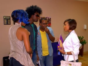 Gina Cummins (chatting with members of Barbados' hottest band ever - NexCyx) said the level of corporate support from several local companies partnering with Chefette to sponsor T-shirts, water stops and prizes, aptly demonstrated how business and community could work together for the benefit of the society.