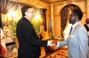 US Ambassador to Equatorial Guinea meets with President Obiang ahead of elections. For election coverage visit: http://spiritofmalabo.com/elections.html
