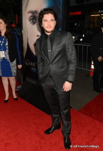 "Actor Kit Harington arrives to HBO's ""Game Of Thrones"" Los Angeles Premiere at TCL Chinese Theatre on March 18, 2013 in Hollywood, California.  (Photo by Jeff Kravitz/FilmMagic)"