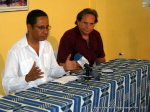 Raul Garcia held a Press Conference 2nd May 2013 at the Clement Payne Cultural Centre on Crumpton Street, Bridgetown. His Attorney did a scene setter before allowing Garcia to field Media Queries.