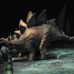 Stegosaurus walking dinosaurs
