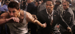 (IMAGE VIA - mediamarketjournal.com) A Secret Service agent is tasked with saving the life of the U.S. President after the White House is overtaken by a paramilitary group.