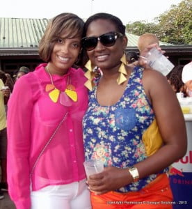 2 lovely ladies pose at the premium all-inclusive breakfast party 'Sunrise'