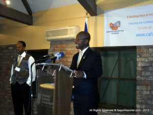 Stephen Lashley making an appearance at a major Art Symposium but only days before Elections were called, now he's really needed to be responsive? He's as silent as Campaign Posters which remain festooned across Barbados, maybe the offending items should have been Bio-Degradable? Pity the same don't apply to MP's, eh?