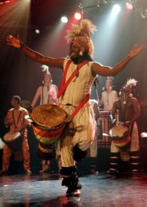 Guinea born, African master, Fodé Moussa Camara, during one of his enthralling live performances.