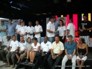 Before they went to buy food or drinks and trade battle scars, Staff & Volunteers pose before gaining their well-deserved caps for Participation in the event(s).