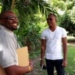 CPLT20 TV Show Host Barry Wilkinson with Marlon Samuels REVISED