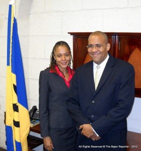 Shadow Minister for Culture, Santia Bradshaw - who many hope will do her part in the House for the Cultural Industries Development Bill (CIDB) and prove to be more than lip service? The MP seen here with BLP colleague Kerrie Simmonds.