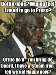 """DEM supporters can say all they like how Stuart has his """"style"""" of Leadership ; the fact is Barrow, Sandiford & Thompson had regular conferences or chatted with Media constantly, whereas Freundel makes """"Silent"""" Calvin Coolidge seems verbose next to him... Will Mia Mottley's prediction of new voting in the next 2 to 3 years come true?"""