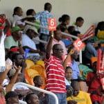 JA fans celebrate at Sabina Park