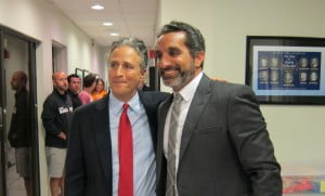 (IMAGE VIA - thelevantpost.com) Almost all of the segment is in English except the first half-minute. Jon Stewart makes an appearance in Cairo on Bassem Youssef's comedy show.