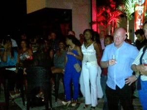 Some of the many customers, clients and pals Barry made his acquaintance while in Barbados come to Limegrove to wish him a grand time in Jamaica