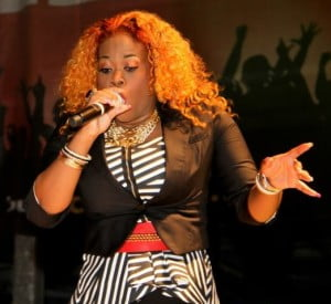 T&T's Nadia Batson shows true woman power during the St. Maarten Carnival concert!