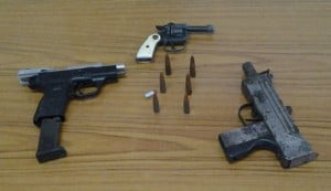 Members of the Drug Squad assisted by other police units, conducted an operation in the Fairfield, Black Rock, St. Michael area, where several firearms and along with ammunition, were discovered buried in an open field of land. No arrests have been made.