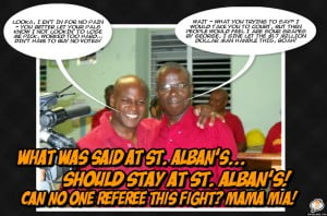(CLICK FOR BIGGER) Mia Mottley in her 1st crisis within her own camp as renewed Opposition Leader left much to be desired - instead of 2 MP's duking it out in Court, she should have said settle where it started... In private! Was this retrograde revenge to create pain for the Bees?