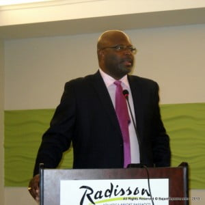 The AG made these comments during the official opening session of the 2013 CDM [Comprehensive Disaster Management] Programming Consultation at the Radisson Aquatica Resort Barbados.