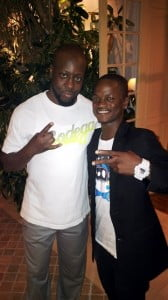 Drummer Chadd with Wyclef Jean