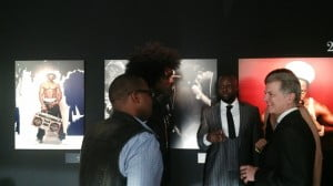 Russell and Kris chat with Wyclef Jean and Bernard Peillon President and CEO of Hennessy Cognac