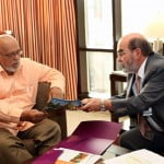 Photo 1 Director General of FAO Dr. Graziano meets with President of Guyana and Lead Head of Government for Agriculture Mr. Ronald Ramoutar