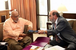 Director General of FAO, Dr. Graziano, meets with President of Guyana and Lead Head of Government for Agriculture, Mr. Donald Ramotar