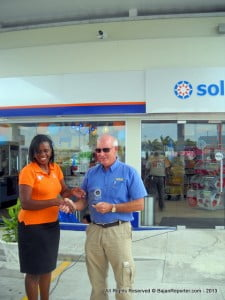 "Roger ""The Sheriff"" Skeete honoured by SOL with a memento for all the years of support he shared while on the Rally circuit (CLICK FOR BIGGER)"