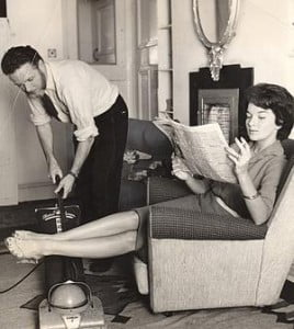 {IMAGE VIA - debbieschlussel.com} According to the statistics, women do 70 to 80 percent of the domestic chores at home when they are married; for a man those stats remain the same as when he was single. When couples have children, her housework increases three times as much as his.