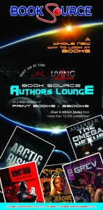The Book Source Authors Lounge will feature 10 local and international authors who will each be provided with a booth. The authors will engage in interviews and book discussions with patrons on a stage in the lounge, and engage in book signings. The authors titles will be on sale. The lounge also features a sofa seating area and coffee table for patrons, fantasy photography booth and giveaways. (CLICK FOR BIGGER)