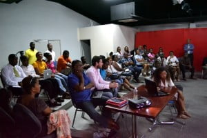 A full house of entrepreneurs attended the briefing session on Bank on ME.  Almost everyone was entering! Get yours in too. Deadline is August 14 2013.