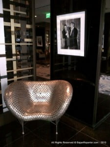 Art Deco styled chair in Sofitel's Lobby, with old Silver Quarters glued on, plus many gorgeous and rare Hollywood photos of which they offered print copies on request - so you know the fee was not slight!