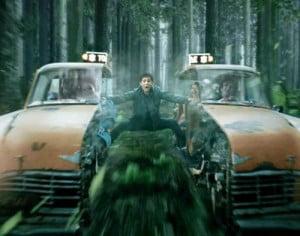 "{IMAGE VIA - kernelscorner.com} PERCY JACKSON 2: SEA OF MONSTERS ""Chariot of Damnation"" Movie Clip, ""In DemiGods we trust!"""