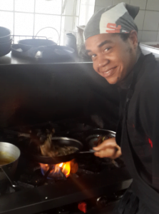 Rhys grills with a smile... don't you?