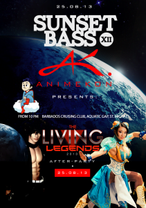 (CLICK FOR BIGGER) Party with AnimeKon on August 25th at Sunset Bass!