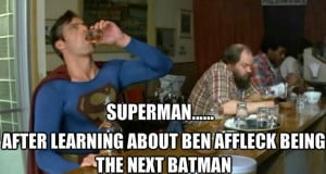 {IMAGE VIA: meme-lo.com} Ben Affleck reacts to his casting as Batman on Late Night with Jimmy Fallon. He'll play Batman in Zack Snyder's Superman VS Batman in 2015. Enjoy! http://bit.ly/ENTVSubscribe