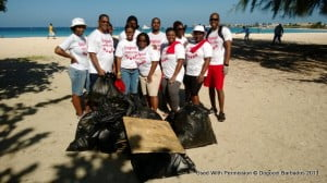 It was hard work, but Digicel staff was all smiles knowing they came together for a worthy cause.