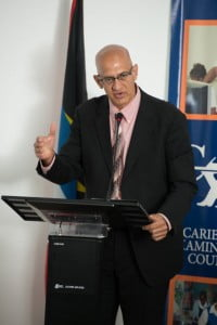 Antigua & Barbuda's Minister of State for Information and Communications, Dr. Edmond Mansoor (Laune Isaac Photo)