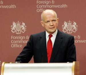 The British Foreign Secretary, William Hague, also conveyed the urgency of addressing the report's latest findings.