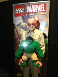 """{IMAGE VIA -screenweek.it} Stan Lee smashes, thwips and stretches his way through """"LEGO Marvel Super Heroes"""" as one of the game's many playable characters!"""