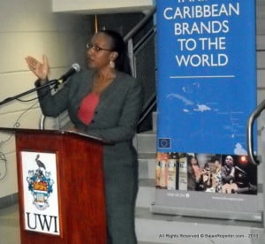 Executive Director Pamela Coke-Hamilton outlined how from a list of approximately 60 applicants, 30 firms were shortlisted based on evaluation criteria that spoke to demand, innovation, brand strength, Economic Partnership Agreement (EPA) application, speed to market, and management strength. These firms then went through Break Point preparatory sessions in Barbados with coaches/mentors, mostly affiliated with the UWI Cave Hill School of Business.