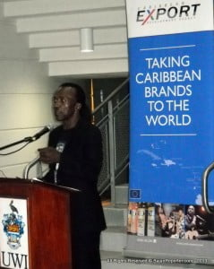 John Francis from St Kitts was scheduled to speak in the middle and not at the end of the launch, but his flight was delayed... He flew LIAT - who was a sponsor of the series!