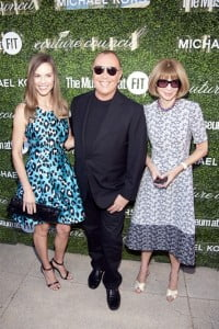Hilary Swank, Michael Kors (centre) and Anna Wintour