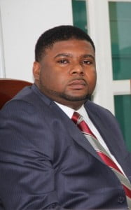 Junior Minister responsible for Communication and Works in the Nevis Island Administration Hon. Troy Liburd at a sitting of the Nevis Island Assembly