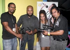 The Honey Jam Barbados TV Show production team.